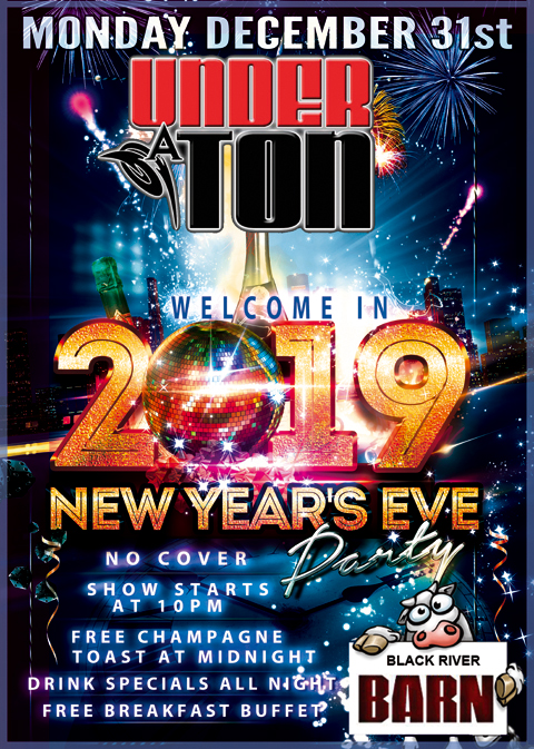 Under A Ton @ @ The Black River Barn - NEW YEARS EVE, Randolph : 12-31-18
