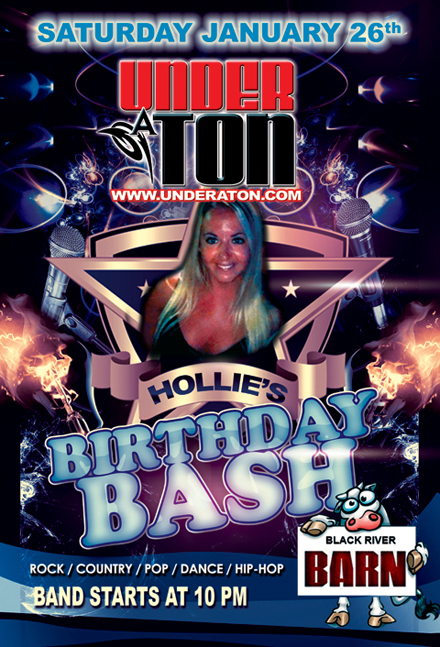 Under A Ton @ The Black River Barn - HOLLIE'S BIRTHDAY BASH, Randolph : 12-26-19